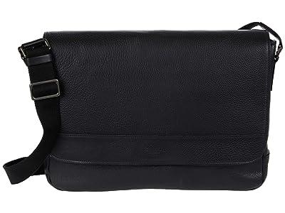Shinola Detroit Slim Messenger (Black) Handbags