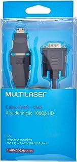 Cabo Multilaser Hdmi-Vga Com Adaptador Hdmi - WI268