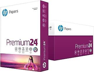 HP Printer Paper, Premium24, 8.5x11, Letter, 24lb Paper, 98 Bright - 5 Reams / 2,500 Sheets - Presentation Paper (115300C)