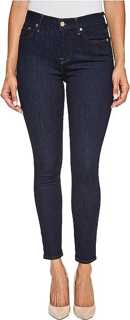 High Waist Ankle Skinny Jeans in Dark Rinse