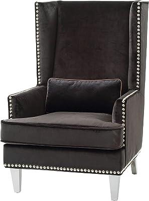 "Glory Furniture Woodbridge Accent Chair, Black. Living Room Furniture, 48"" H x 32"" W x 37"" D"
