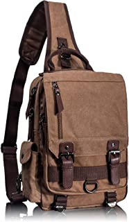 Leaper Retro Messenger Bag Canvas Shoulder Backpack Travel Rucksack Sling Bag