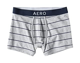 Aeropostale Striped Front Logo Elastic Waist Boxer for Men