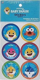 Amscan Baby Shark Stickers 24pcs