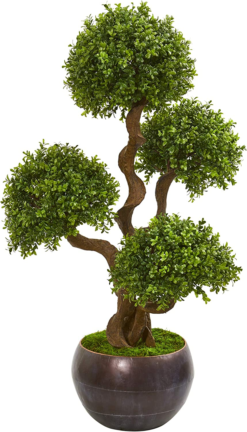 """Nearly Natural 44"""" Max Jacksonville Mall 90% OFF Four Ball Artificial Pla Boxwood Topiary"""