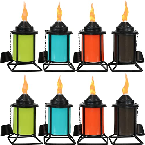 wholesale Sunnydaze Metal Tabletop Torches - Outdoor Patio and Lawn Citronella Torch - high quality Multi-Color discount - Set of 8 sale
