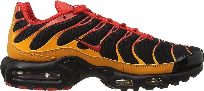 Nike Air Max Plus, Baskets Homme, Black/Chile Red/Vivid Orange, 43 ...