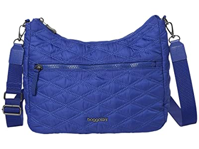 Baggallini Quilted Convertible Hobo (Cobalt/Blue) Handbags