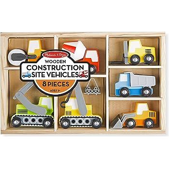 Melissa & Doug Wooden Construction Site Vehicles