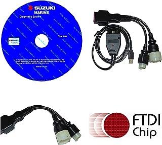 moto-solution Diagnostic USB Cable Kit for Suzuki SDS 8.30 Outboard Boat Marine
