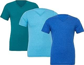 Men V-Neck Soft Fabric Body Fit Vneck Tshirt Gym Value Pack of 3