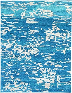 Best blue contemporary rugs Reviews