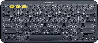 Teclado sem fio Logitech K380 com Conexão Bluetooth para até 3 dispositivos e Pilha Inclusa para PC, Mac, Android, iOS e A...