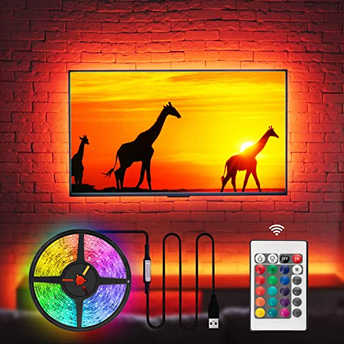 TV Bias Lighting LED TV Backlight Behind 32 40 42 43 Inch HDTV, Custom USB Powered TV Light Strip to Cover 4/4 Sides ...