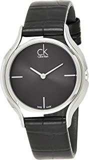 Calvin Klein Women's Black Dial Leather Band Watch - K3M231C4