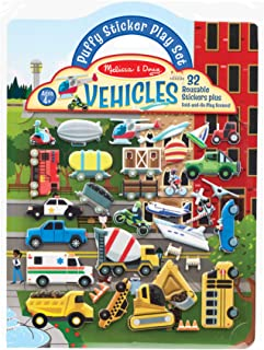 Melissa & Doug 40522 Reusable Puffy Stickers-Vehicles | Activity Books | 3+ | Gift for Boy or Girl