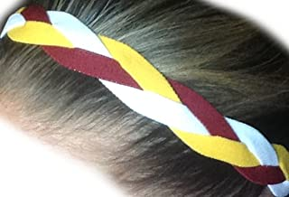 IT'S RIDIC! No Slip Grip/Non-Slip Sports/Athletic Nylon Triple Braided Sports Headband