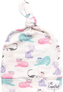 Baby Beanie Hat Top Knot Stretchy Soft