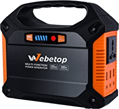 Webetop 155Wh 42000mAh Portable Generator Inverter Battery 100W Camping Emergency Home..
