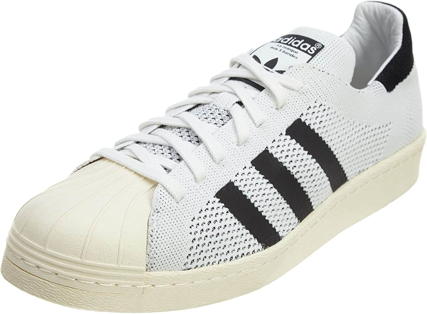 adidas Originals Mens Superstar 80s Primeknit Low Top Lifestyle Fashion Sneakers