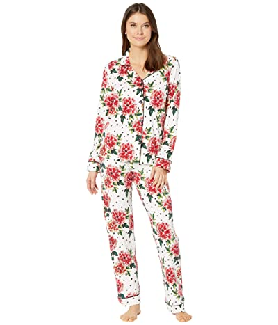BedHead Pajamas Long Sleeve Classic Notch Collar Pajama Set (Room To Bloom) Women