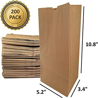 Paper Lunch Bags, Kraft Brown Heavy Duty Take Out Bag 4# Basis Weight (200)