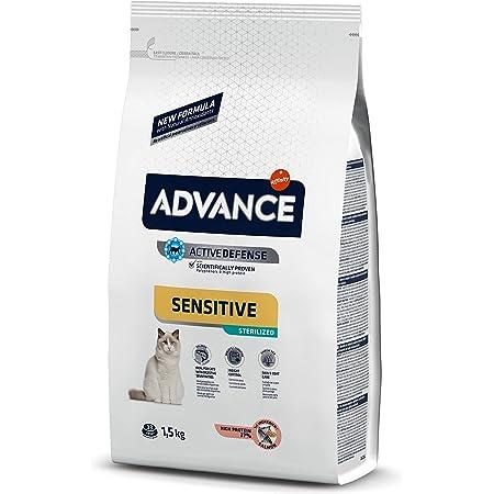 ADVANCE Sensitive Sterilized - Pienso para Gatos Esterilizados con Salmón - 1,5Kg