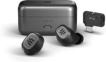 گوشواره های بازی بی سیم درون گوش EPOS GTW 270 هیبریدی با دانگل کم تاخیر برای بازی On The Go در نینتندو سوییچ ، تلفن های همراه PC و PS5 ، سازگار با اندروید