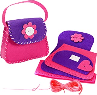 Learn How to Sew Doll´s Felt Bag for Kids Aged 6 to 11. Perfect Beginner Sewing Kit for Kids. First Mini Sewing Project and Crafts Kits for Children