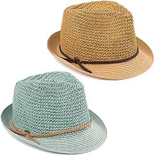 ec894834 Funky Junque UPF50+ Adjustable Multicolor Woven Pattern Short Brim Fedora  Hat