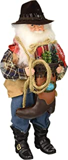 Santa's Workshop Cowboy with Boot Santa Figurine 15