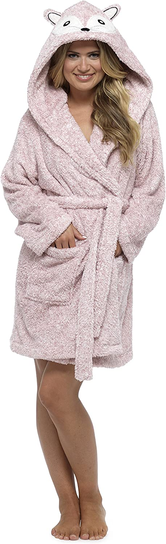 Ladies Insignia® Hooded Fleece Dressing Gown