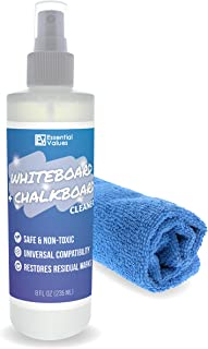 Whiteboard Cleaner Spray (8 fl oz) + 12x12