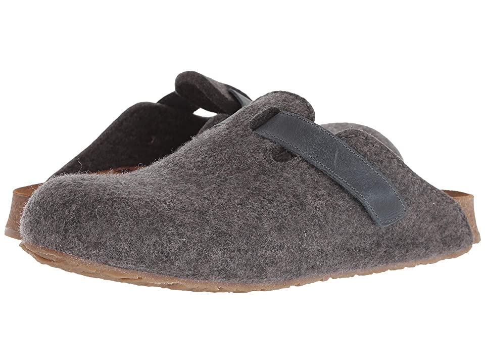 Haflinger Bio Kurt Velcro Felt (Grey) Clog Shoes