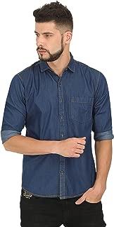Genius18 Men Printed Party Denim Slim fit Shirt