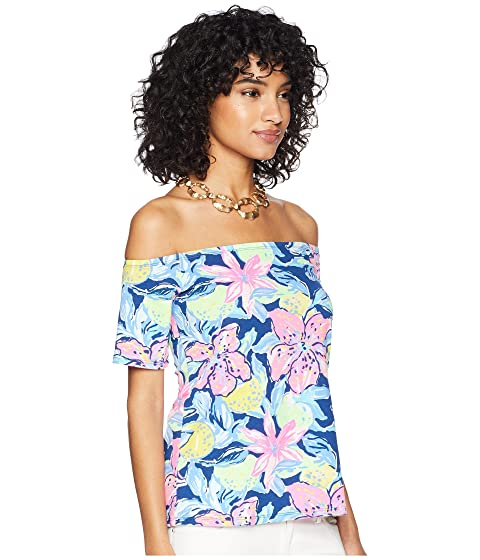 Clearance Outlet Outlet Online Lilly Pulitzer Keria Top Nauti Navy Capri Soleil The Cheapest For Sale Cheap Perfect z5mKu0oW