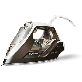 Taurus Geyser Eco 2600 – Plancha, 160 g/min, 2600W, regulador Vapor y Temperatura, Suela Titanium, Plástico, Azul, Blanco