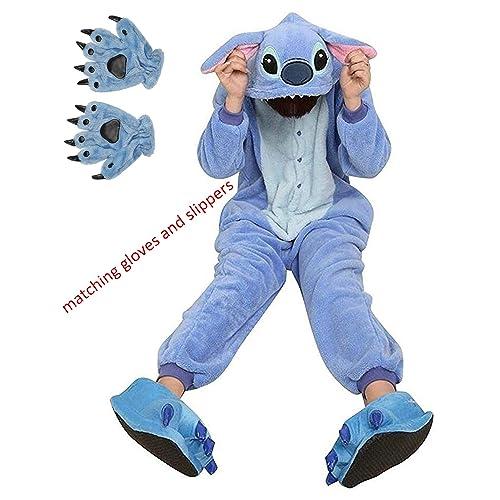 0264eed39f2c ReachMe Adult Animal Onesies Pajamas Stitch Skeleton Dinosaur Costumes  Loungwear Pjs