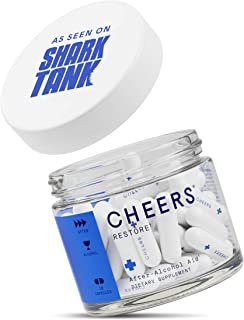 Cheers (Formerly Thrive+) Restore Hangover Cure - Hangover Pills (18 Count) for Morning After Hangover Prevention - Reduces GABAa Rebound. Flavonoid Supplement with DHM and Milk Thistle