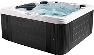Essential Hot Tubs 60 Jets Omni Sterling Silver Shell, Grey