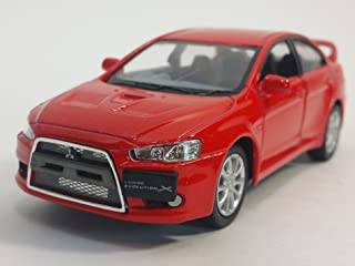 Kinsmart Red 2008 Mitsubishi Lancer Evo Evolution X 1/36 Scale Diecast Car