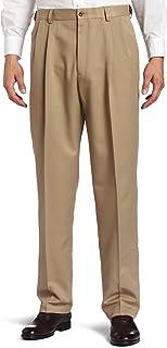 Haggar Men's Big and Tall Cool 18 Gabardine Hidden Expandable Waist Pleat Front Pant