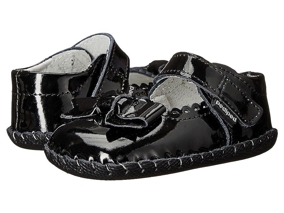pediped Betty Original (Infant) (Black Patent) Girls Shoes