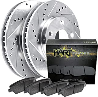 For 2005-2012 Ford Focus, EcoSport Front HartBrakes Brake Rotors+Ceramic Pads
