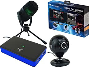 Subsonic - Stream Pack accessories for gamers and youtubers with Full HD video capture box, microphone and HD camera - Compatible with : PS4 Slim / Pro - Xbox One S / X - Nintendo Switch - PC