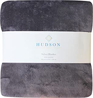 Hudson Collection Rich Luxurios Soft Plush Solid Velvet Blanket - Twin- Full/Queen - King (Plum, King)