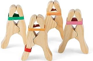 CASSARO Waldorf Wooden Play Clips, 4 Pack