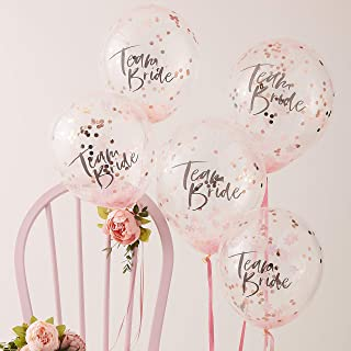 Ginger Ray Confetti Filled Team Bride Hen Party Balloons - Floral Hen