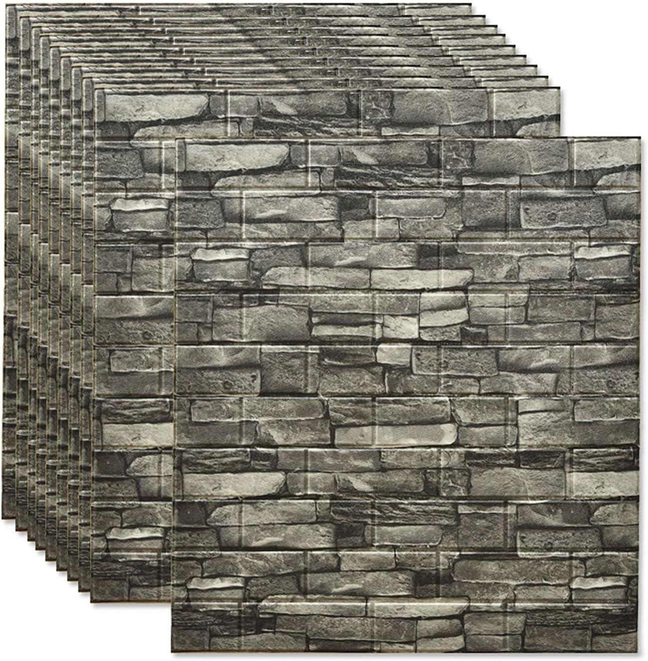 DLMSDG Super intense SALE Brick Wall Outlet sale feature Stickers Self-Adhesive Foam Wallpaper Waterpr