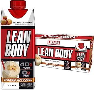 Lean Body Ready-to-Drink Salted Caramel Protein Shake, 40g Protein, Whey Blend, 0 Sugar, Gluten Free, 22 Vitamins & Minera...